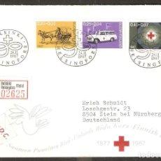 Sellos: FINLANDIA.1967. FDC MI 630/2. CRUZ ROJA. Lote 155381614