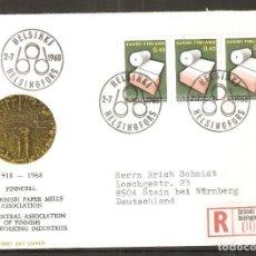 Sellos: FINLANDIA.1968. FDC MI 648. Lote 155383706