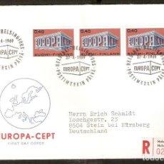 Sellos: FINLANDIA.1968. FDC MI 656. EUROPA. Lote 155384006
