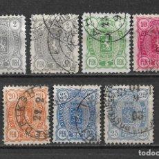 Sellos: FINLANDIA 1889 USADO SC 38/42 - 3/9. Lote 155827878