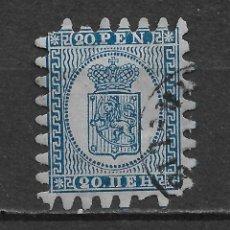 Sellos: FINLANDIA 1866 USADO SC 9 20P BL, BL, III 525.00 52.50 - 3/9. Lote 155831254
