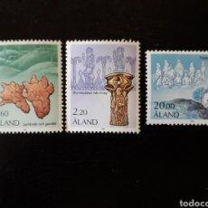 Sellos: ALAND (FINLANDIA) YVERT 16/8 SERIE COMPLETA NUEVA SIN CHARNELA. ARQUEOLOGÍA. HISTORIA.. Lote 156024248