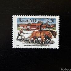Sellos: ALAND (FINLANDIA) YVERT 27 SERIE COMPLETA NUEVA SIN CHARNELA. AGRICULTURA. Lote 156027409