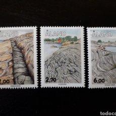 Sellos: ALAND (FINLANDIA) YVERT 75/7 SERIE COMPLETA NUEVA SIN CHARNELA. ESTRUCTURAS ROCOSAS.. Lote 156029718