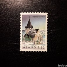 Sellos: ALAND (FINLANDIA) YVERT 37 SERIE COMPLETA NUEVA SIN CHARNELA. IGLESIAS DE ALAND.. Lote 156285321