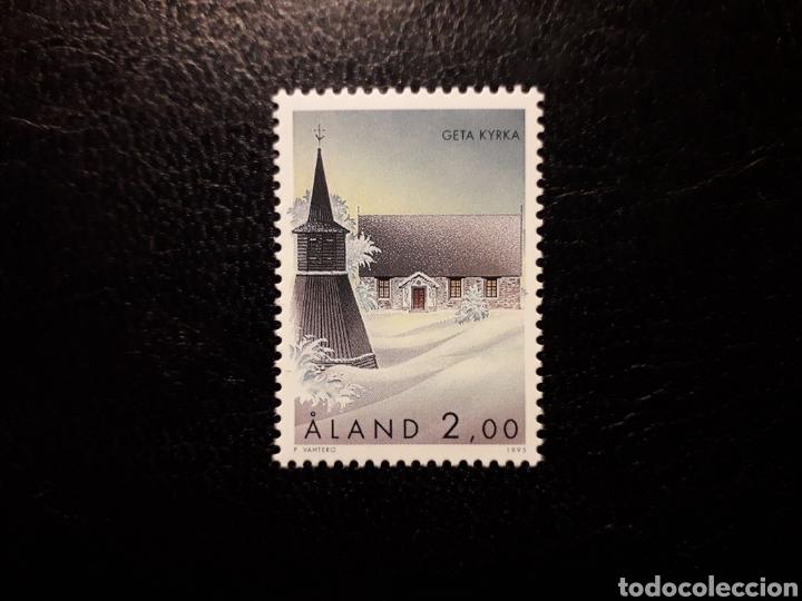 ALAND (FINLANDIA) YVERT 105 SERIE COMPLETA NUEVA SIN CHARNELA. IGLESIAS DE ALAND. (Sellos - Extranjero - Europa - Finlandia)