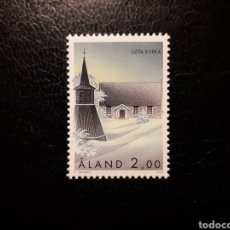 Sellos: ALAND (FINLANDIA) YVERT 105 SERIE COMPLETA NUEVA SIN CHARNELA. IGLESIAS DE ALAND.. Lote 156290526