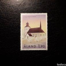 Sellos: ALAND (FINLANDIA) YVERT 162 SERIE COMPLETA NUEVA SIN CHARNELA. IGLESIAS DE ALAND.. Lote 156293500