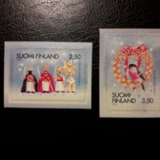 Sellos: FINLANDIA YVERT 1508/10 SERIE COMPLETA NUEVA SIN CHARNELA. NAVIDAD. REYES MAGOS. AVES.. Lote 156314116