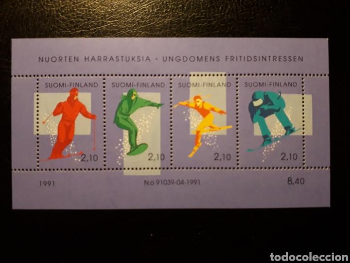 FINLANDIA. YVERT HB-8 SERIE COMPLETA NUEVA SIN CHARNELA. DEPORTES DE INVIERNO. ESQUÍ (Sellos - Extranjero - Europa - Finlandia)
