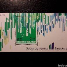 Sellos: FINLANDIA. YVERT HB-9 SERIE COMPLETA NUEVA SIN CHARNELA. INDEPENDENCIA. Lote 156659022