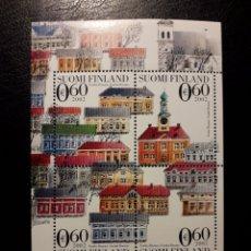 Sellos: FINLANDIA. YVERT HB-29 SERIE COMPLETA NUEVA SIN CHARNELA. ARQUITECTURA. CIUDAD DE RAUMA. Lote 156675480