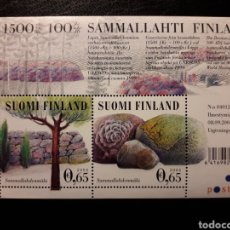 Sellos: FINLANDIA. YVERT HB-35 SERIE COMPLETA NUEVA SIN CHARNELA. ARQUEOLOGÍA, TÚMULOS. Lote 156675654