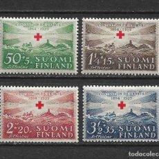 Sellos: FINLANDIA 1939 * NUEVO SC B35-B38 (4) 10.70 - 3/12. Lote 156694846