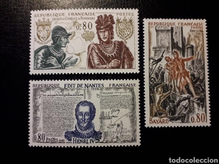 FRANCIA. YVERT 1616/8 SERIE COMPLETA NUEVA SIN CHARNELA. HISTORIA. REYES. (Sellos - Extranjero - Europa - Finlandia)