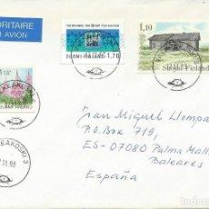 Sellos: 1993. FINLANDIA. SOBRE CIRCULADO. PAISAJES/LANDSCAPE. NATURALEZA/NATURE. FLORA. FLOWERS.. Lote 161444098