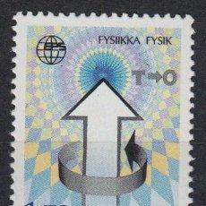 Sellos: FINLANDIA 1987 - CONFERENCIA SOCIEDAD DE FISICA - YVERT Nº 992**. Lote 162099394