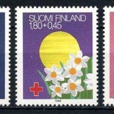 Sellos: FINLANDIA 1988 - CRUZ ROJA - YVERT Nº 1008-1010** . Lote 162302358