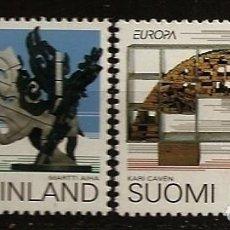 Sellos: FINLANDIA 1993 - EUROPA CEPT - YVERT Nº 1172-1173**. Lote 162384642