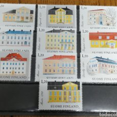 Sellos: FINLANDIA N°867/76 MNH, ARQUITECTURA 1982. Lote 166557729