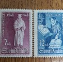 Sellos: FINLANDIA :N°342/43 MNH, AÑO 1948. Lote 166558301