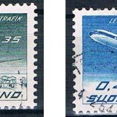 Sellos: FINLANDIA 1963 Y PA10/11 USADO SERIE. Lote 171209682