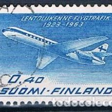 Sellos: FINLANDIA 1963 Y PA11 USADO . Lote 171209733
