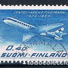 Sellos: FINLANDIA 1963 Y PA11 USADO . Lote 171209743