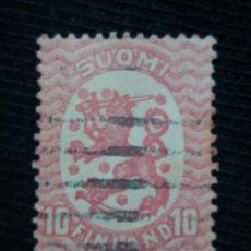 Sellos: FINLANDIA, 10, SUOMI, AÑO 1919.. Lote 171530670