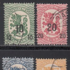 Timbres: FINLANDIA, 1919-20 YVERT Nº 91, 92, 93, 94, . Lote 172661557