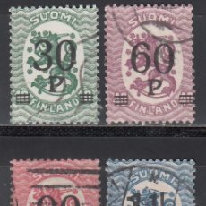Timbres: FINLANDIA, 1921 YVERT Nº 95, 96, 97, 98, . Lote 172661578
