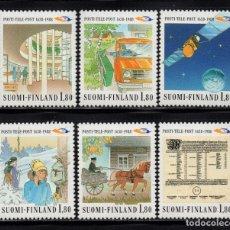 Sellos: FINLANDIA 1023/28** - AÑO 1988 - 350º ANIVERSARIO DEL CORREO EN FINLANDIA. Lote 174085299