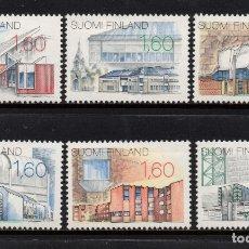 Sellos: FINLANDIA 951/56** - AÑO 1986 - NUEVA ARQUITECTURA FINLANDESA. Lote 174243695