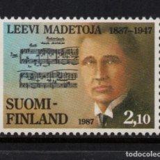 Sellos: FINLANDIA 978** - AÑO 1987 - MUSICA - CENTENARIO DEL NACIMIENTO DEL COMPOSITOR LEVI MADETOJA. Lote 174243868