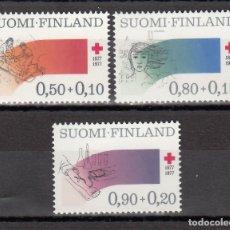 Sellos: FINLANDIA, 1977 YVERT Nº 763 / 765 /**/ CRUZ ROJA. Lote 174346453