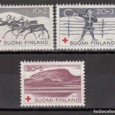 Sellos: FINLANDIA, 1960 YVERT Nº 504 / 506 /**/ CRUZ ROJA. Lote 174346462