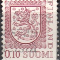 Sellos: FINLANDIA - UN SELLO - IVERT:#FI-790 - ***ESCUDO DE ARMAS*** - AÑO 1978 - USADO. Lote 175870710