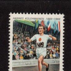 Sellos: FINLANDIA 1060** - AÑO 1989 - ATLETISMO - CENTENARIO DEL NACIMIENTO DEL ATLETA HANNES KOLEHMAINEN. Lote 177591209