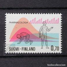 Sellos: FINLANDIA 1975 ~ INVESTIGACIÓN FARMACOLÓGICO ~ SELLO NUEVO MNH LUJO. Lote 179084010