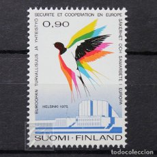 Sellos: FINLANDIA 1975 ~ CONFERENCIA EUROPEA EN HELSINKI ~ SELLO NUEVO MNH LUJO. Lote 179084148