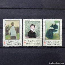 Sellos: FINLANDIA 1975 ~ ARTE: PINTURAS ~ SERIE NUEVA MNH LUJO. Lote 179084225