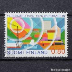 Sellos: FINLANDIA 1976 ~ 50 AÑOS DE EMISIÓN RADIOFÓNICA ~ SELLO NUEVO MNH LUJO. Lote 179084463