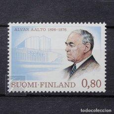 Sellos: FINLANDIA 1976 ~ ALVAR AALTO: ARQUITECTO ~ SELLO NUEVO MNH LUJO. Lote 179108863