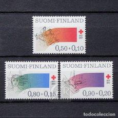 Sellos: FINLANDIA 1977 ~ CRUZ ROJA ~ SERIE NUEVA MNH LUJO. Lote 179108931