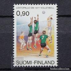 Sellos: FINLANDIA 1977 ~ DEPORTE: CAMPEONATO EUROPEO DE VOLLEYBALL ~ SELLO NUEVO MNH LUJO. Lote 179109470