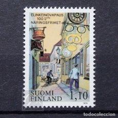 Sellos: FINLANDIA 1979 ~ CENTENARIO DEL LIBRE COMERCIO ~ SELLO NUEVO MNH LUJO. Lote 179110823