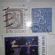 Sellos: FINLANDIA, 3 SELLOS USADOS DIFERENTES. Lote 179539326