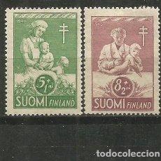 Timbres: FINLANDIA YVERT NUM. 312/313 * SERIE COMPLETA CON FIJASELLOS. Lote 184923930