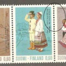Sellos: FINLANDIA,5 VALORES,1973,CAT YT 697/701,NUEVOS,G.ORIGINAL,SIN FIJASELLOS,. Lote 186865605