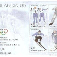 Sellos: HOJITA FINLANDIA,1994 CAT. YT BL11 G.ORIGINAL,NUEVA, SIN FIJASELLOS Nº ANVERSO. Lote 186871875